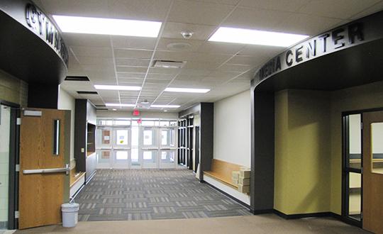 Circle USD 375 Oil Hill Elementary New Main Entry Hallway